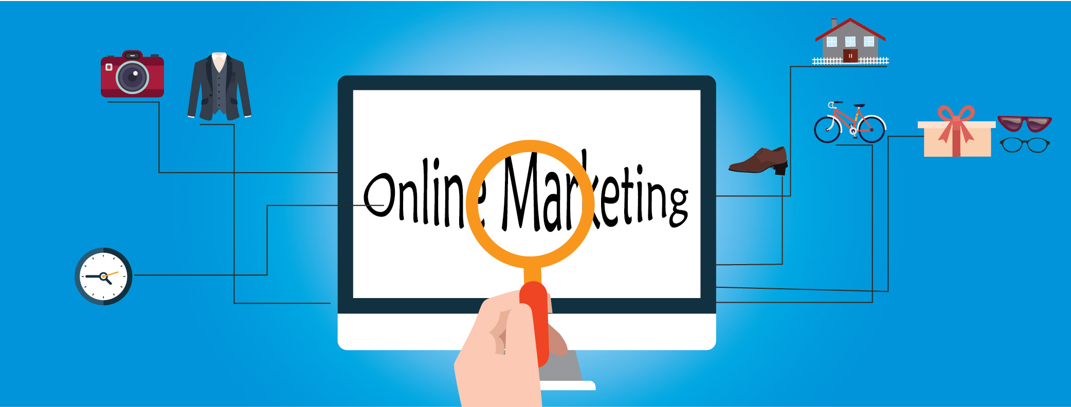 what is online marketing by clipping path india