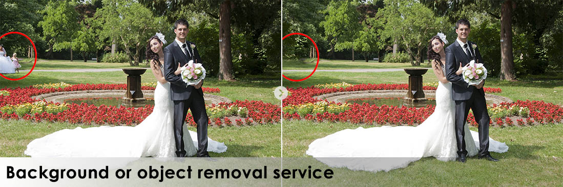 Background or object removal service