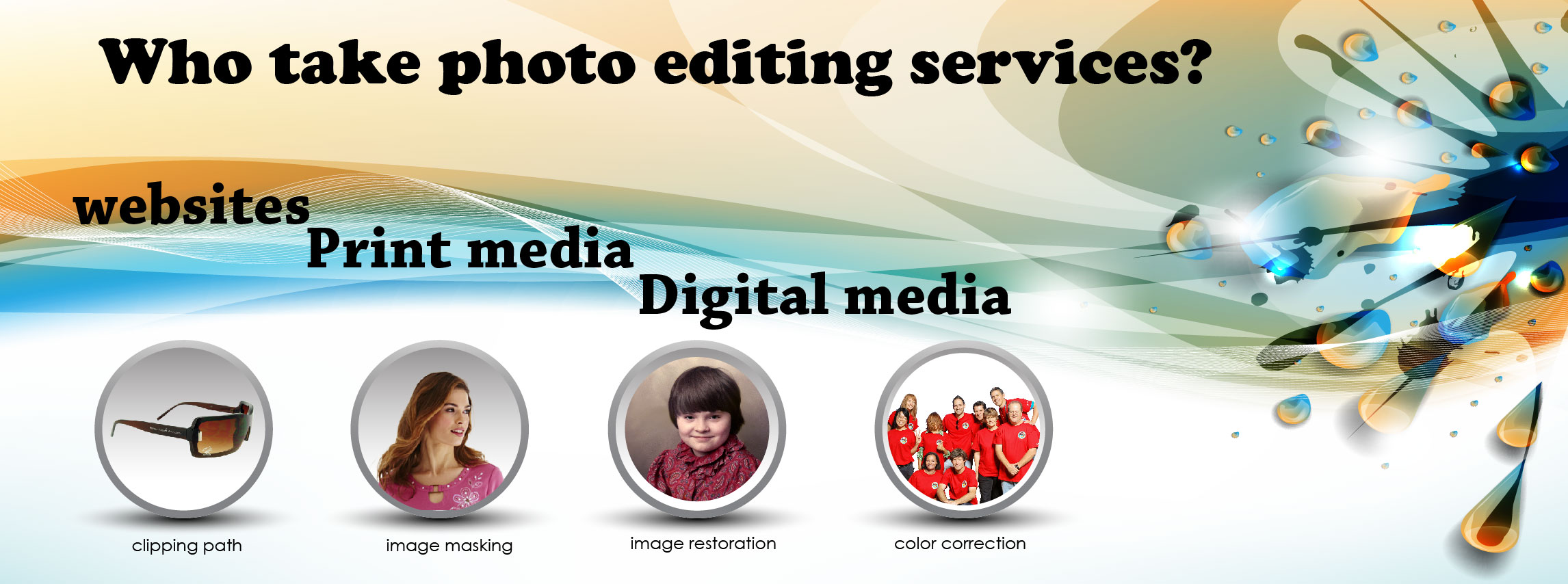 Who take photo editing services?