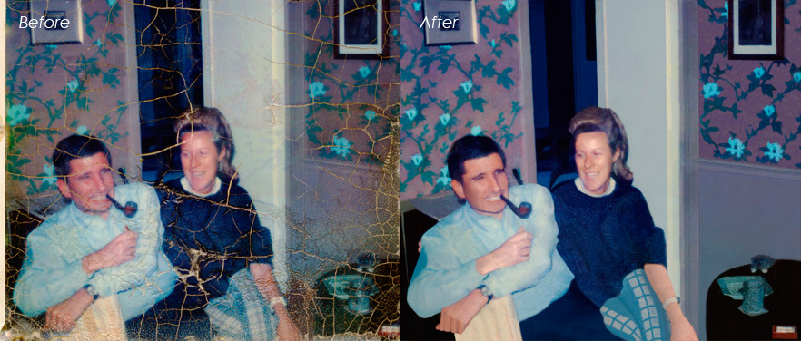Old photo retouch and restoration