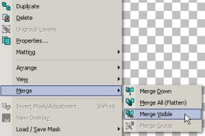Merge Visible Layers Image