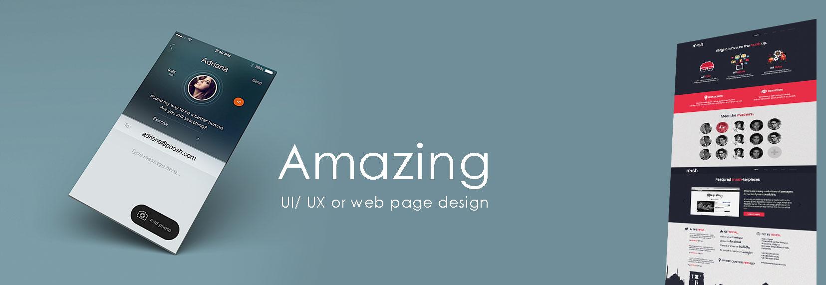 Amazing UI/ UX or web page design