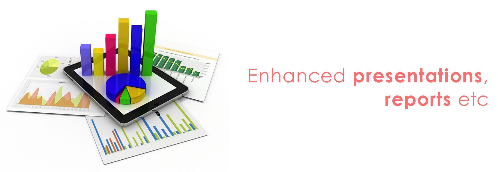 Enhanced presentations, reports etc.