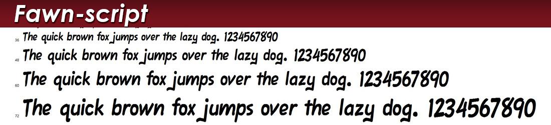 Fawn Script Font