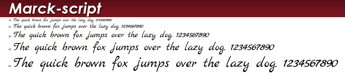 Marck Script Font Picture