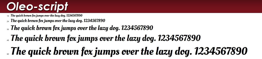 oleo-script fonts