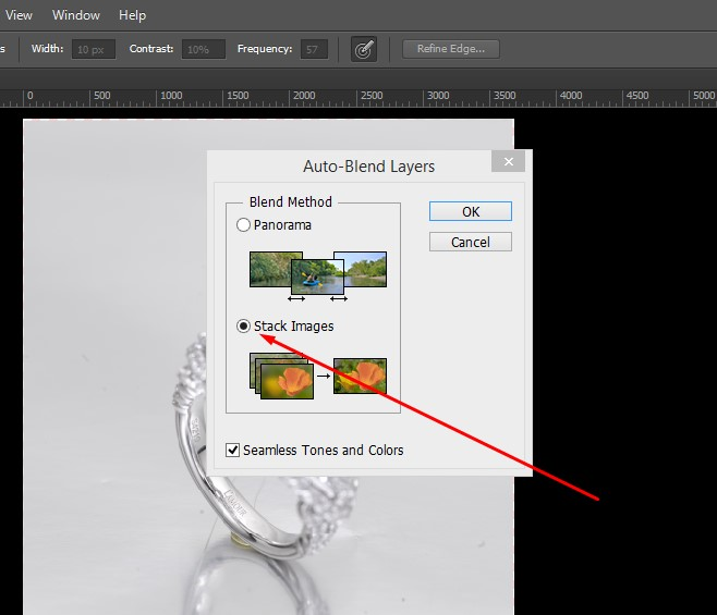 focus stacking tutorial image step
