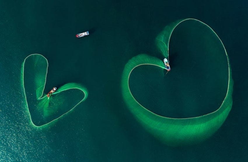 Hearts On The Sea by Nguyen Phan Xuan