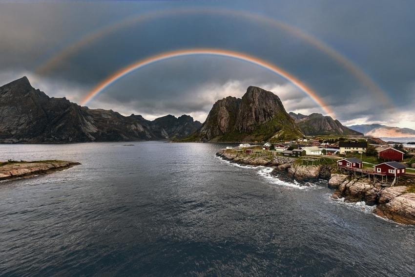 Rainbow Reine by Paal Uglefisk Lund