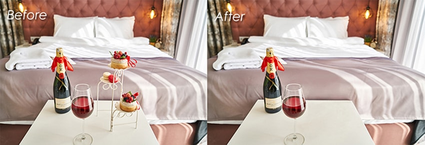 object removal-Hotel Room Photo Retouching