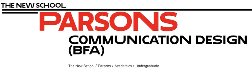 Communication Design- Parsons School of Design