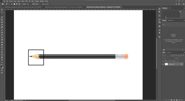 step-1-use Lasso or any selection tool
