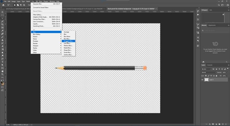 step-7-Filter menu-Blur-Gaussian Blur